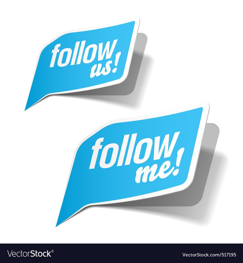 Follow me vector | Price: 1 Credit (USD $1)
