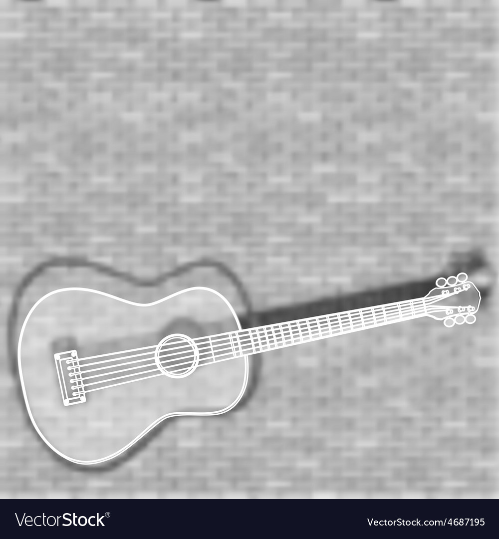 Guitar on a blurred background vector | Price: 1 Credit (USD $1)