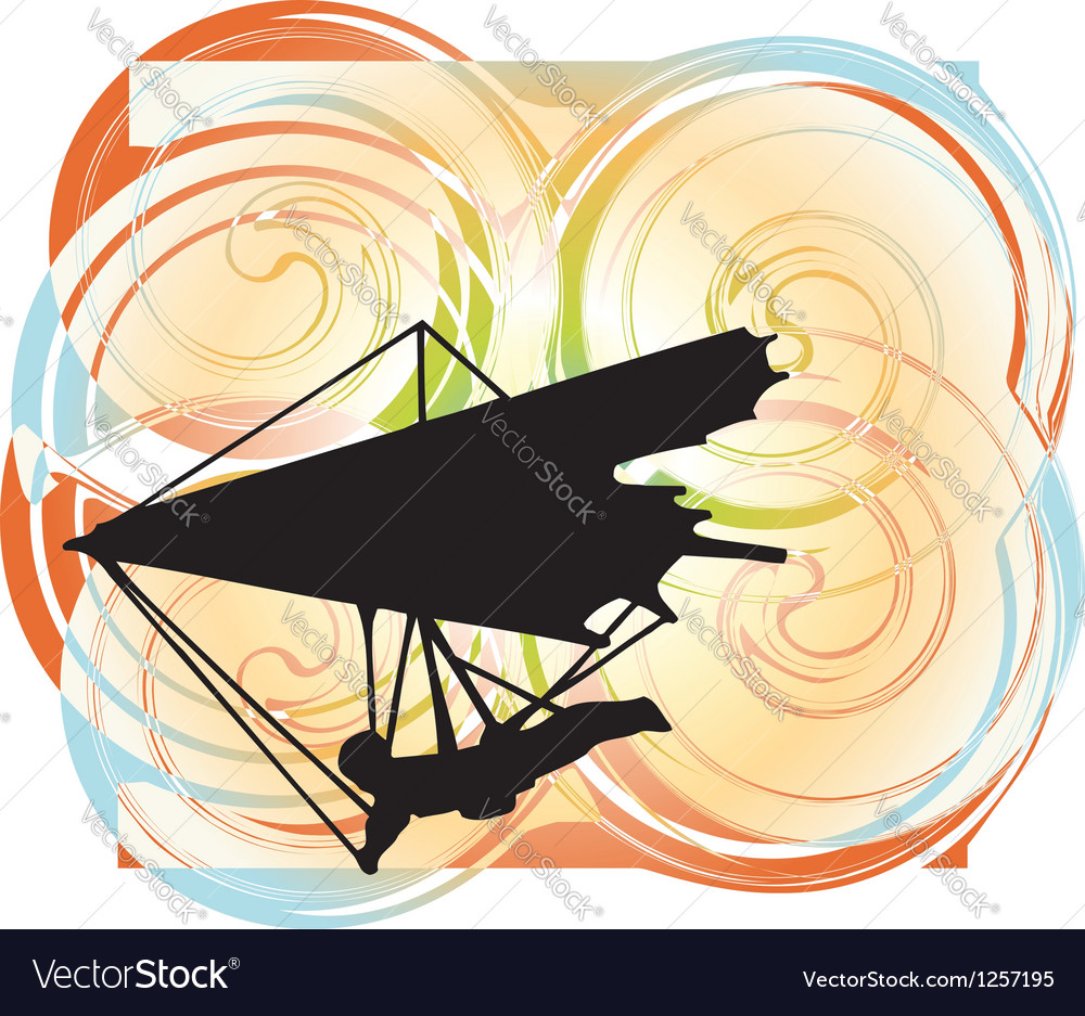 Hang glider vector | Price: 1 Credit (USD $1)