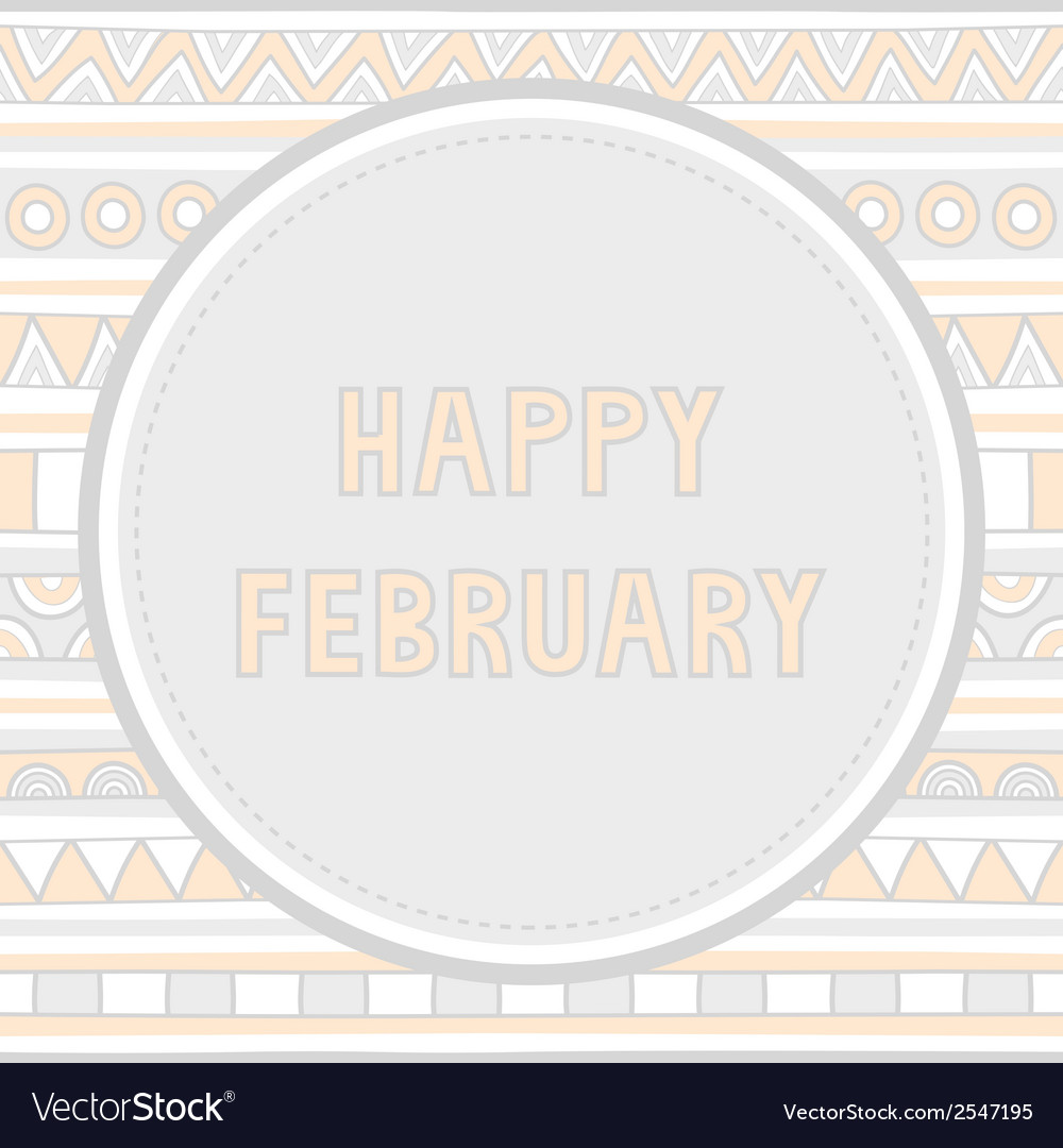 Happy february background1 vector | Price: 1 Credit (USD $1)