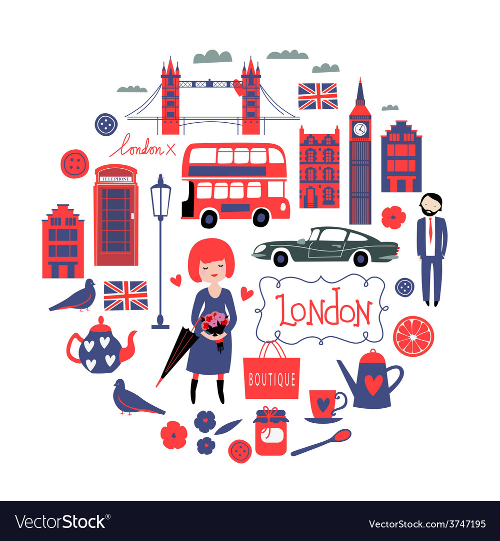 London round composition vector | Price: 1 Credit (USD $1)