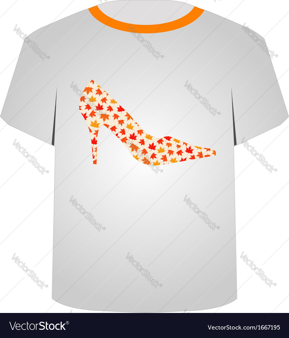 T shirt template- shoe vector | Price: 1 Credit (USD $1)
