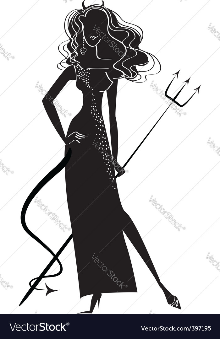 Woman devil vector | Price: 1 Credit (USD $1)