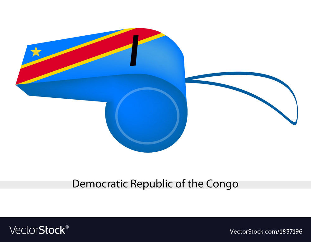 A whistle of democratic republic of the congo vector   Price: 1 Credit (USD $1)