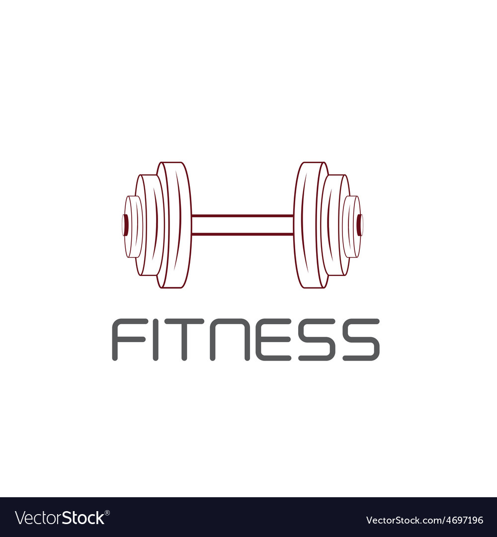 Barbell design template vector | Price: 1 Credit (USD $1)