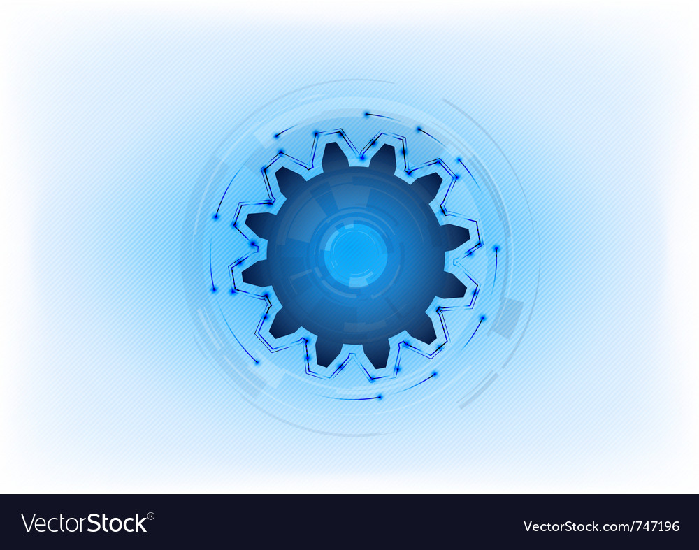 Blue cogwheel on the light background vector | Price: 1 Credit (USD $1)