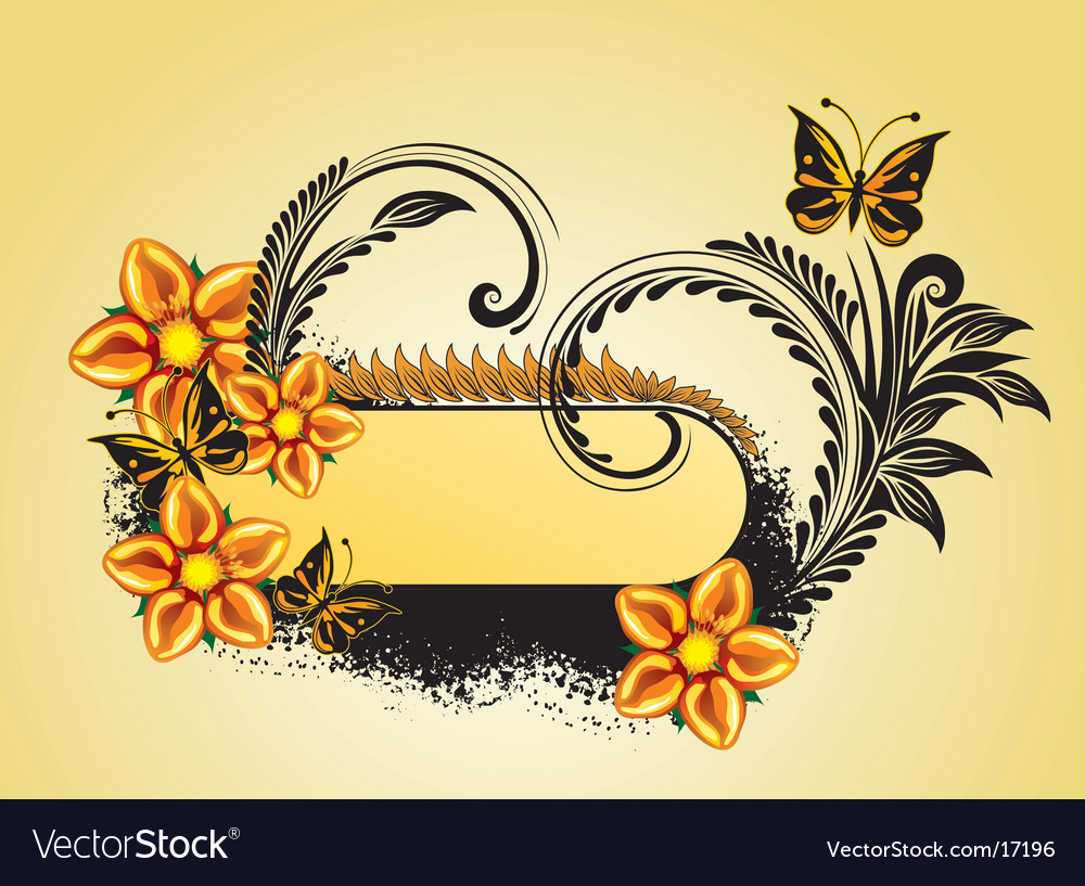 Butterfly frame vector | Price: 1 Credit (USD $1)