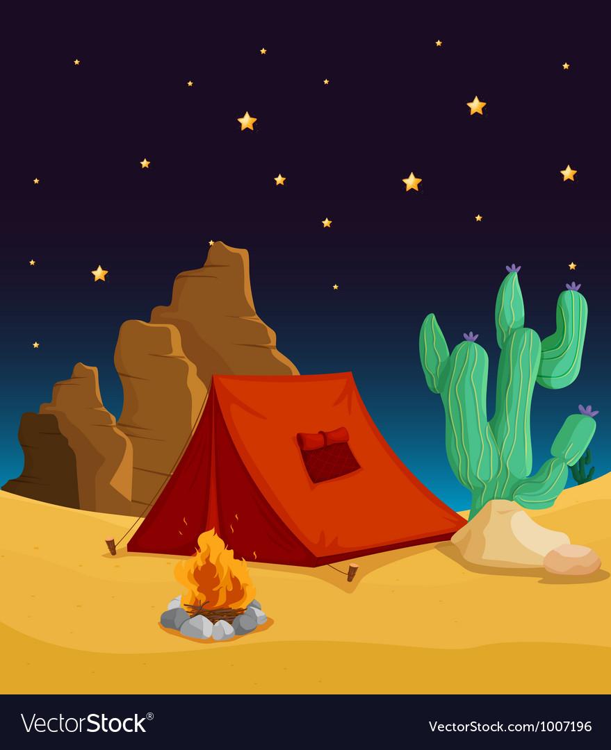 Desert camping vector   Price: 3 Credit (USD $3)
