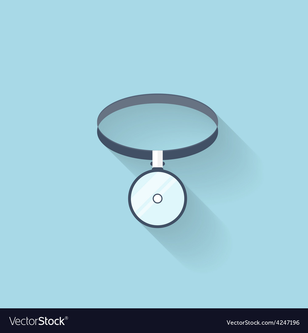 Flat web internet icon medical head mirror vector   Price: 1 Credit (USD $1)