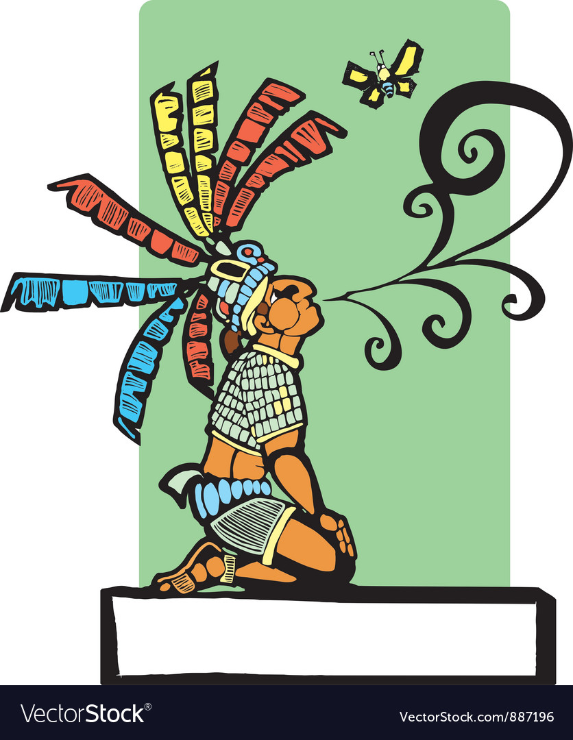 Mayan storyteller vector | Price: 1 Credit (USD $1)