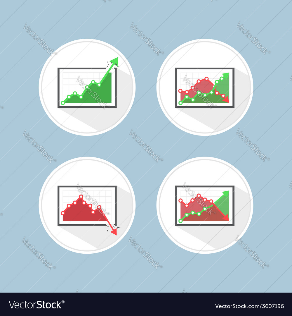 Rise and fall business graph vector | Price: 1 Credit (USD $1)