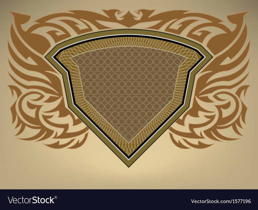 Shield pattern vector | Price: 1 Credit (USD $1)