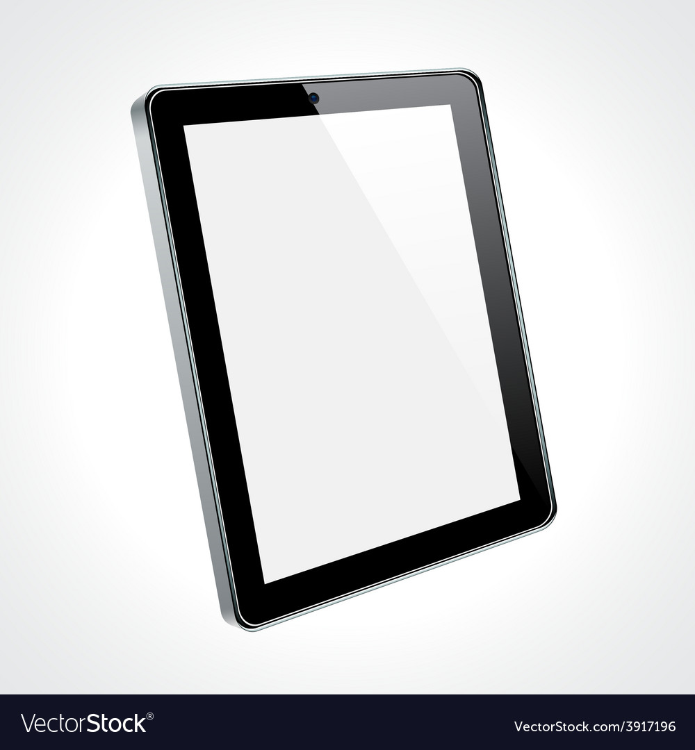 Touchscreen tablet concept vector | Price: 1 Credit (USD $1)