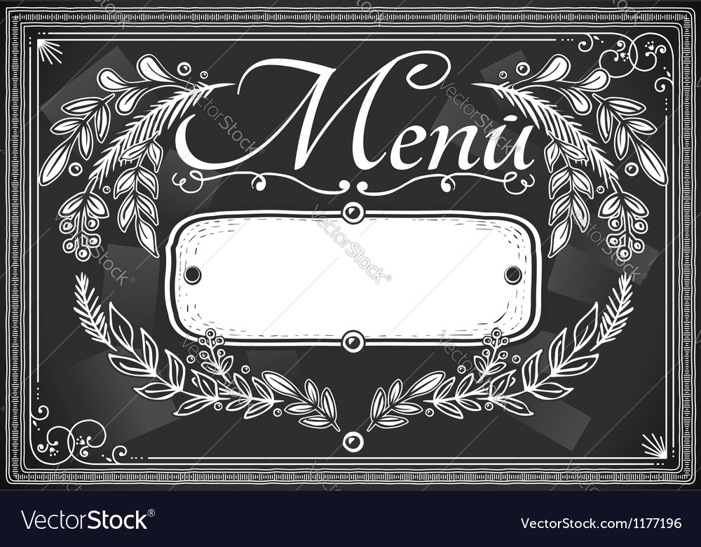Vintage graphic place card menu for bar or vector | Price: 1 Credit (USD $1)