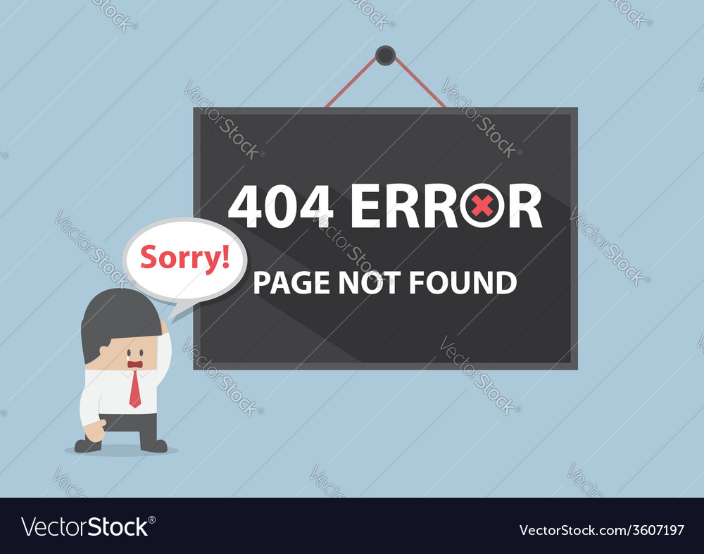 404 error page not found vector | Price: 1 Credit (USD $1)