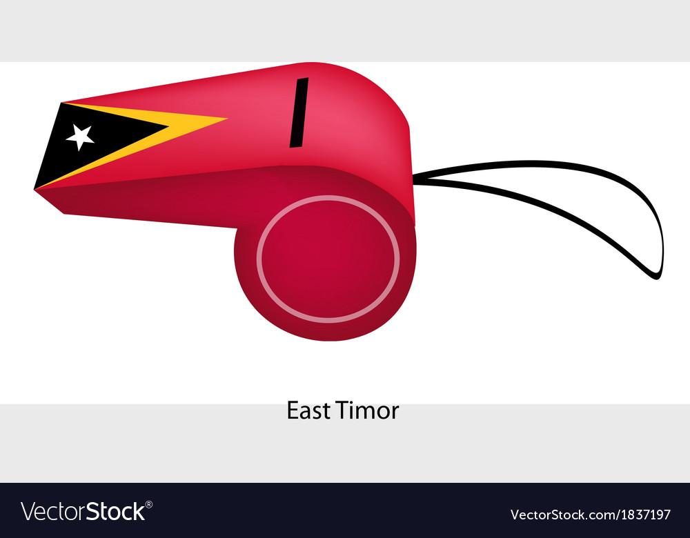 A whistle of democratic republic of timor-leste vector | Price: 1 Credit (USD $1)