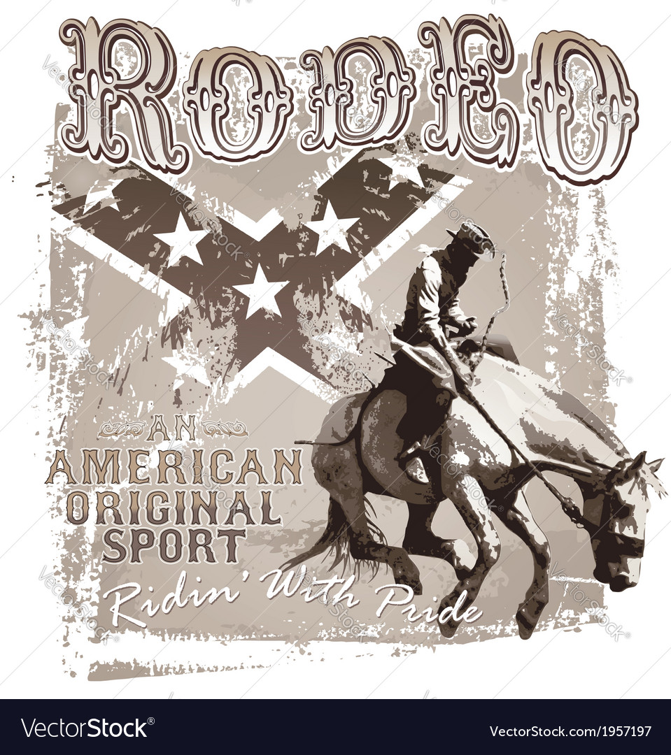 American original sport rodeo vector | Price: 5 Credit (USD $5)