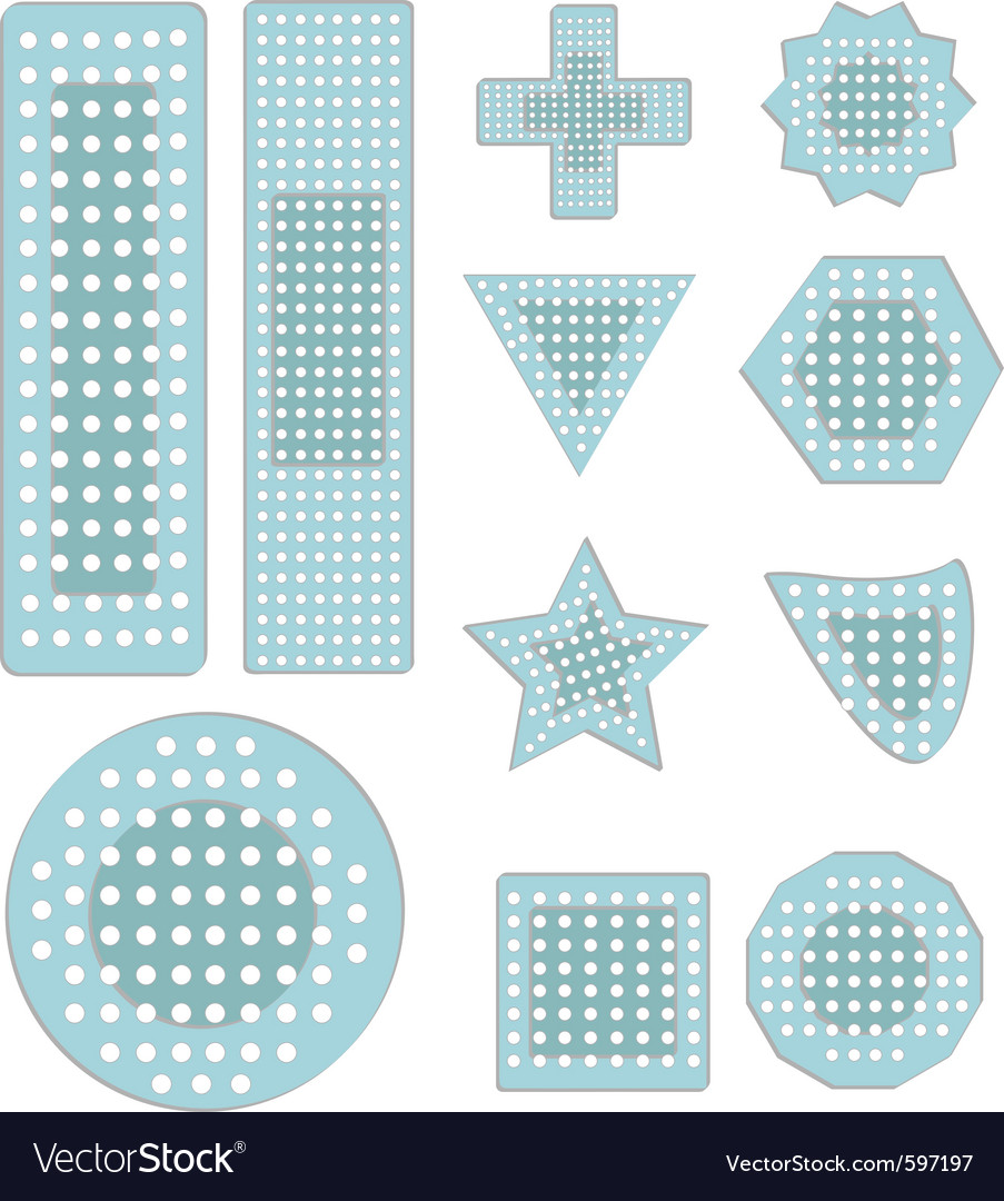 Bandaid icons vector | Price: 1 Credit (USD $1)
