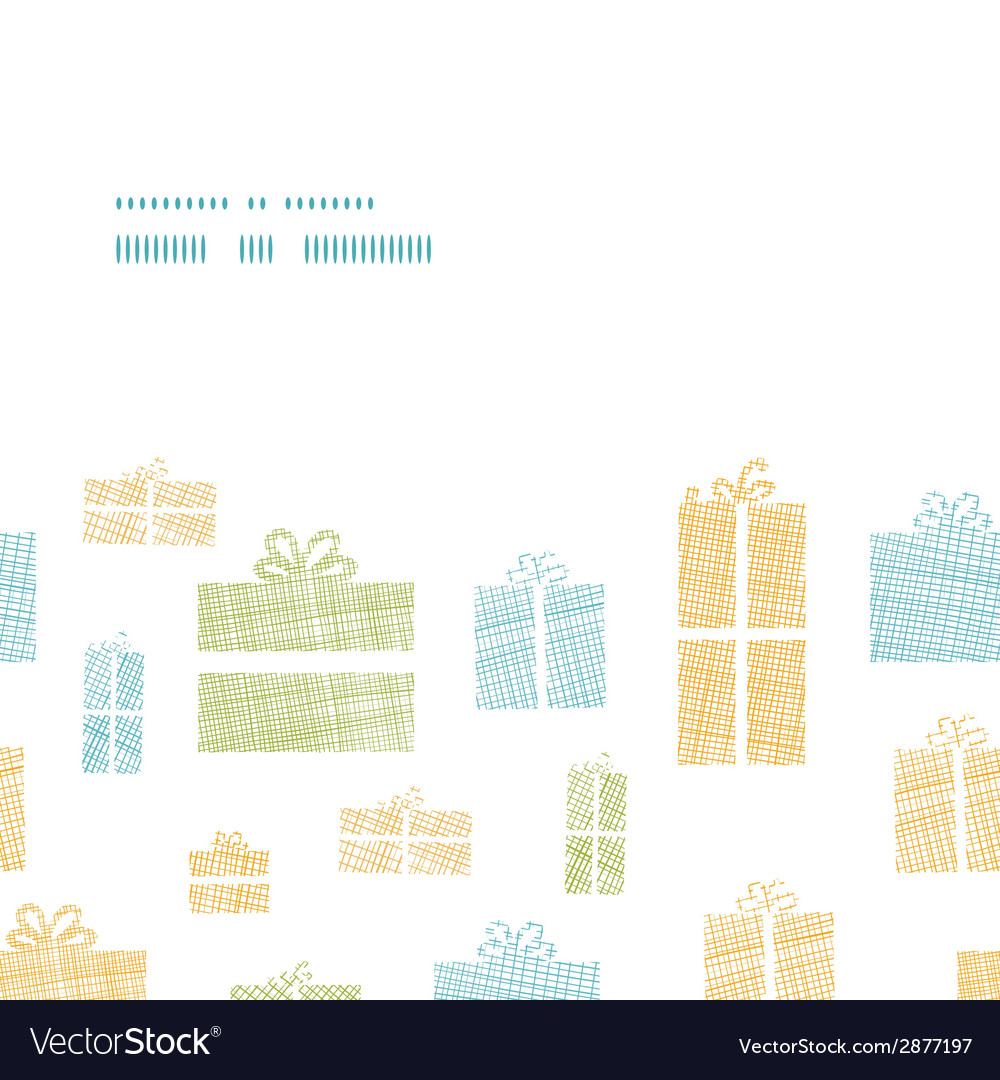 Colorful gift boxes textile texture horizontal vector | Price: 1 Credit (USD $1)