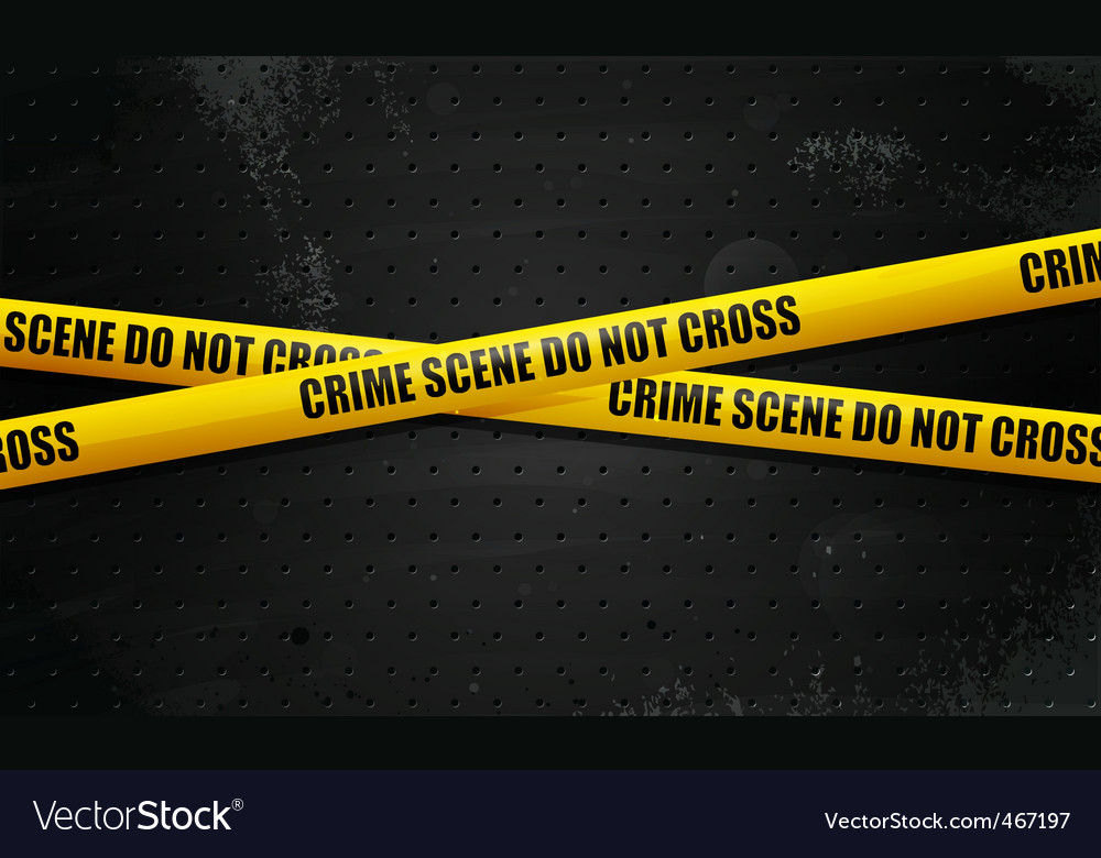 Crime scene tape on black vector | Price: 1 Credit (USD $1)