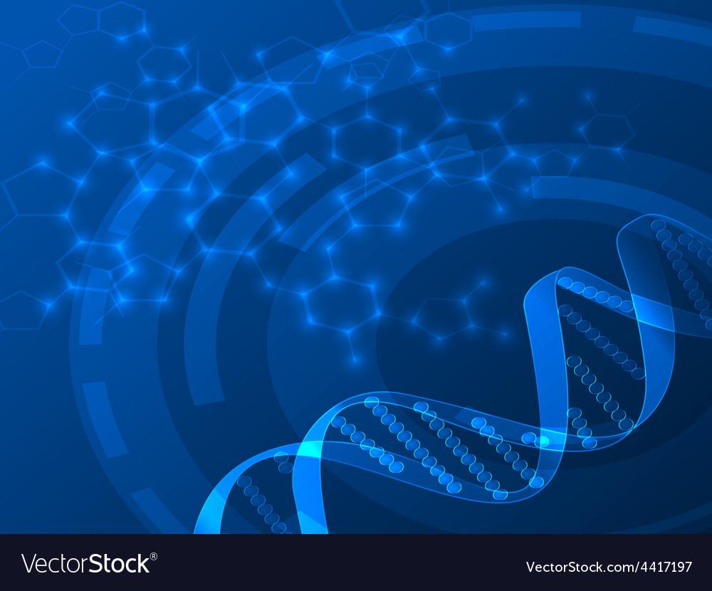 Dna medical background vector