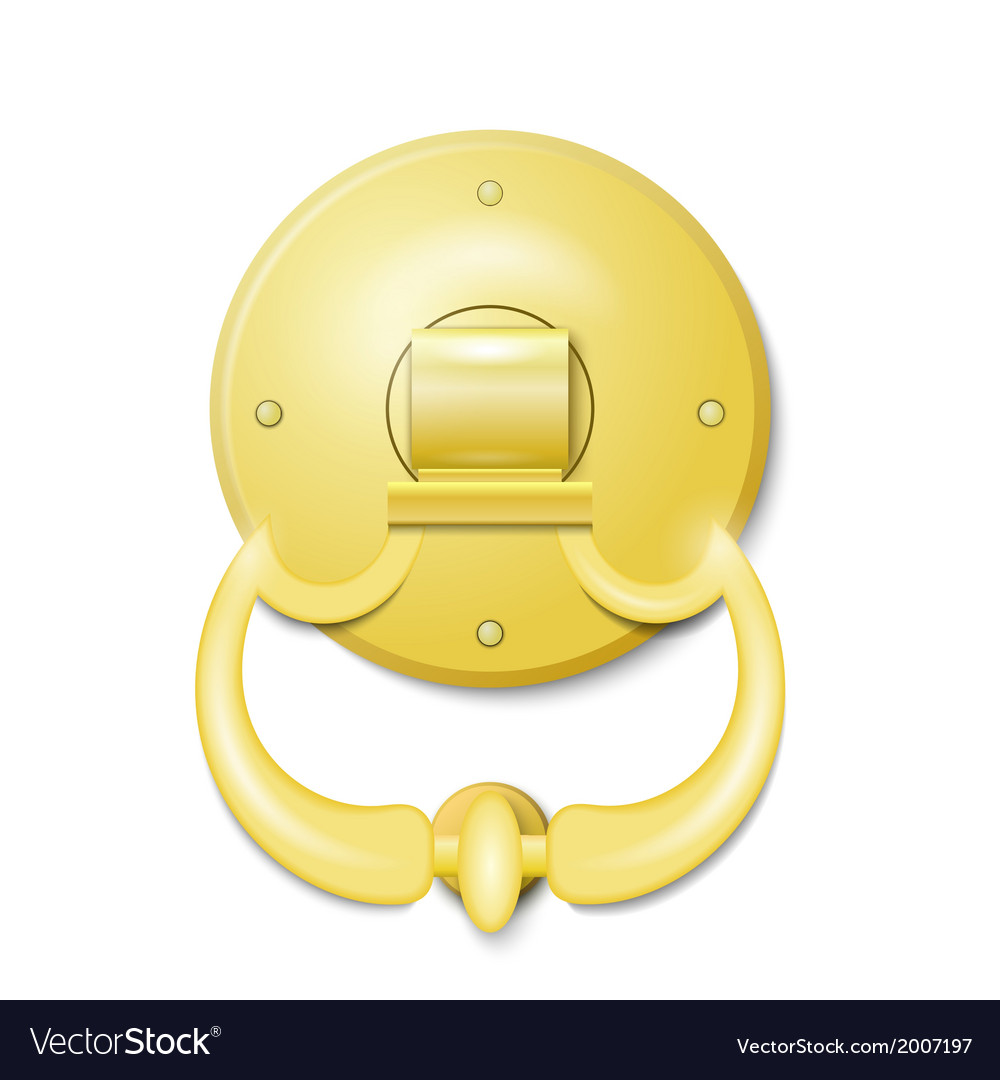 Golden door knocker vector | Price: 1 Credit (USD $1)
