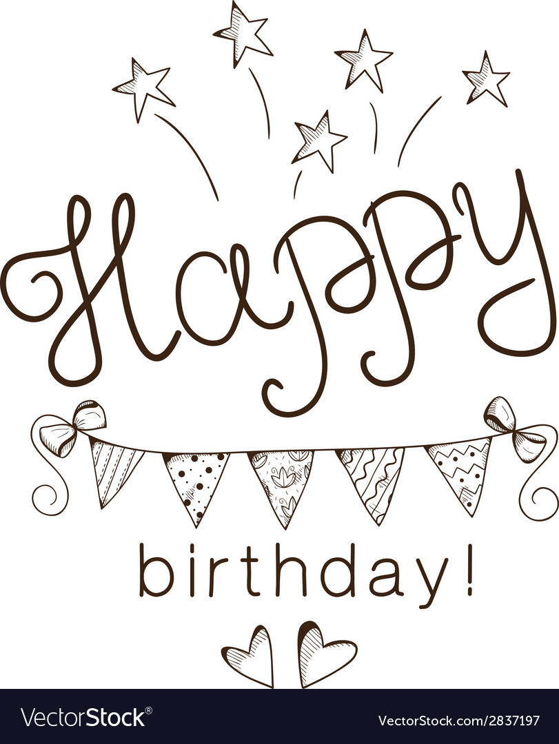 Greeting text for birthday vector | Price: 1 Credit (USD $1)
