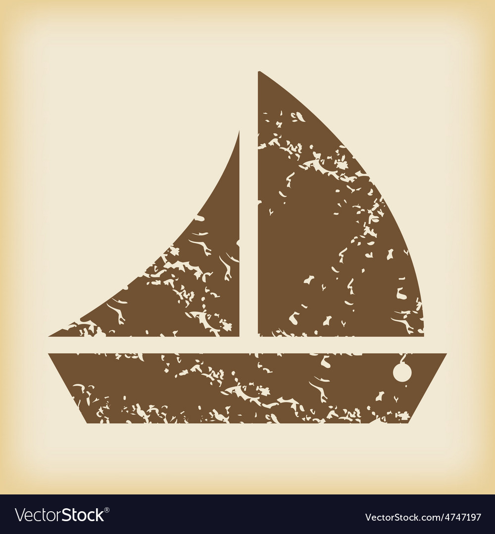 Grungy sailing ship icon vector   Price: 1 Credit (USD $1)