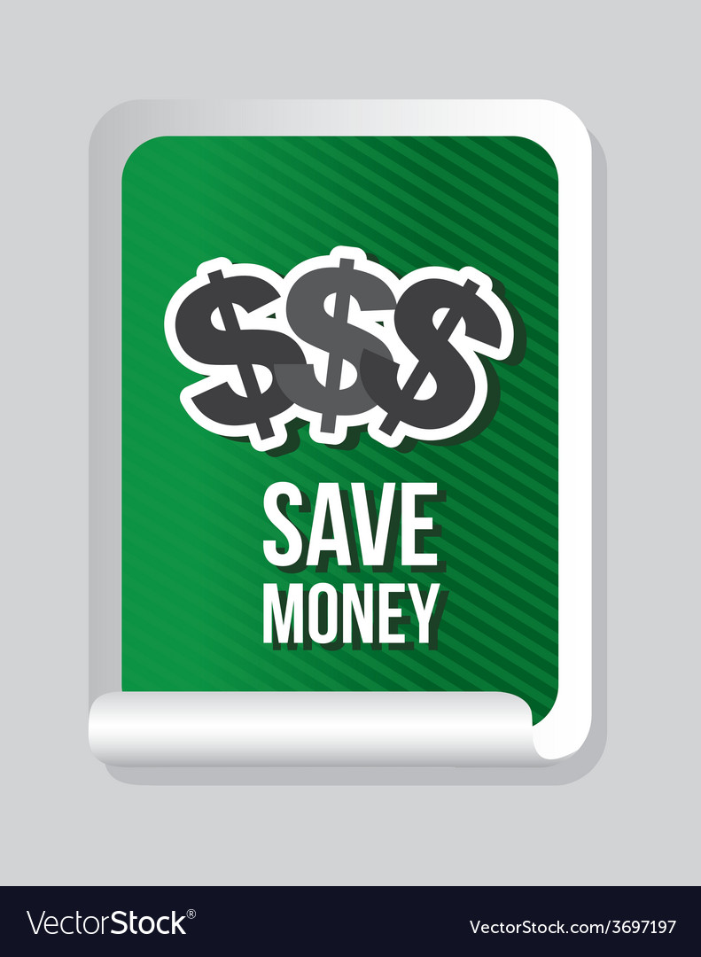 Save money vector | Price: 1 Credit (USD $1)