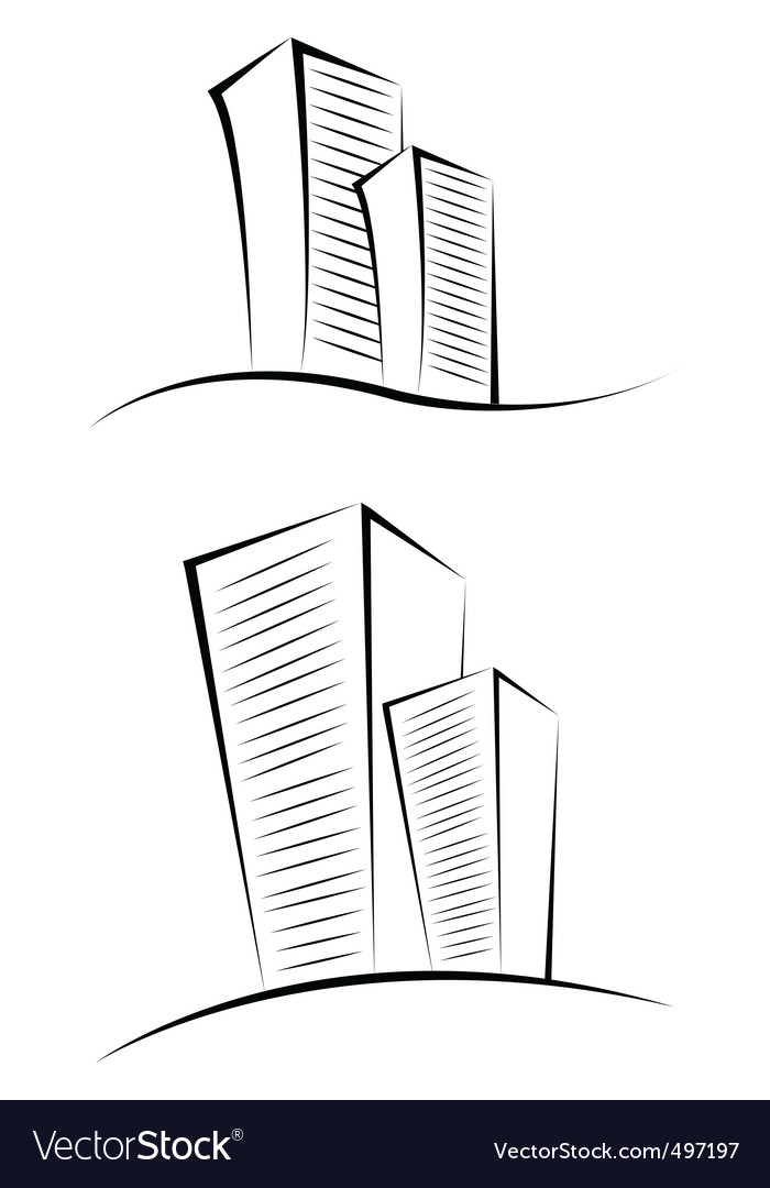 Sketchy buildings vector | Price: 1 Credit (USD $1)