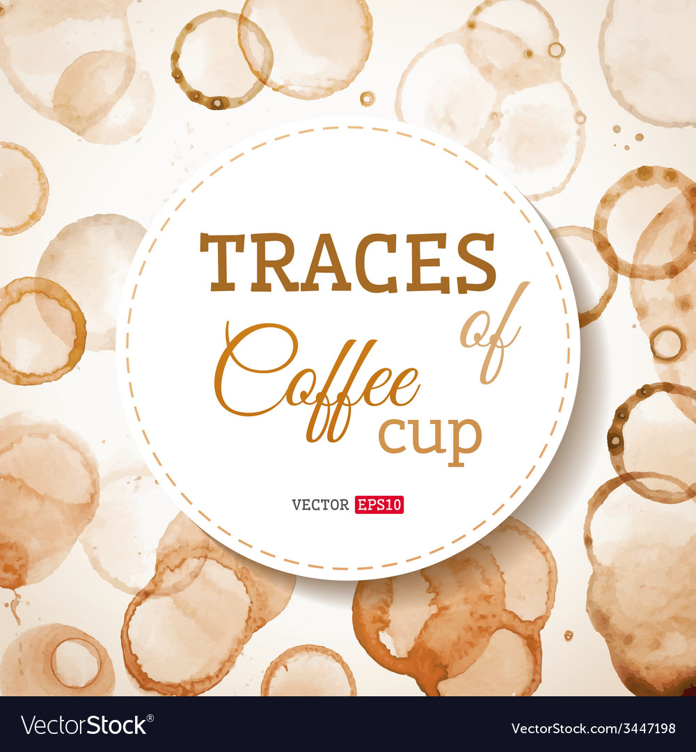 Coffee cup traces background vector | Price: 1 Credit (USD $1)