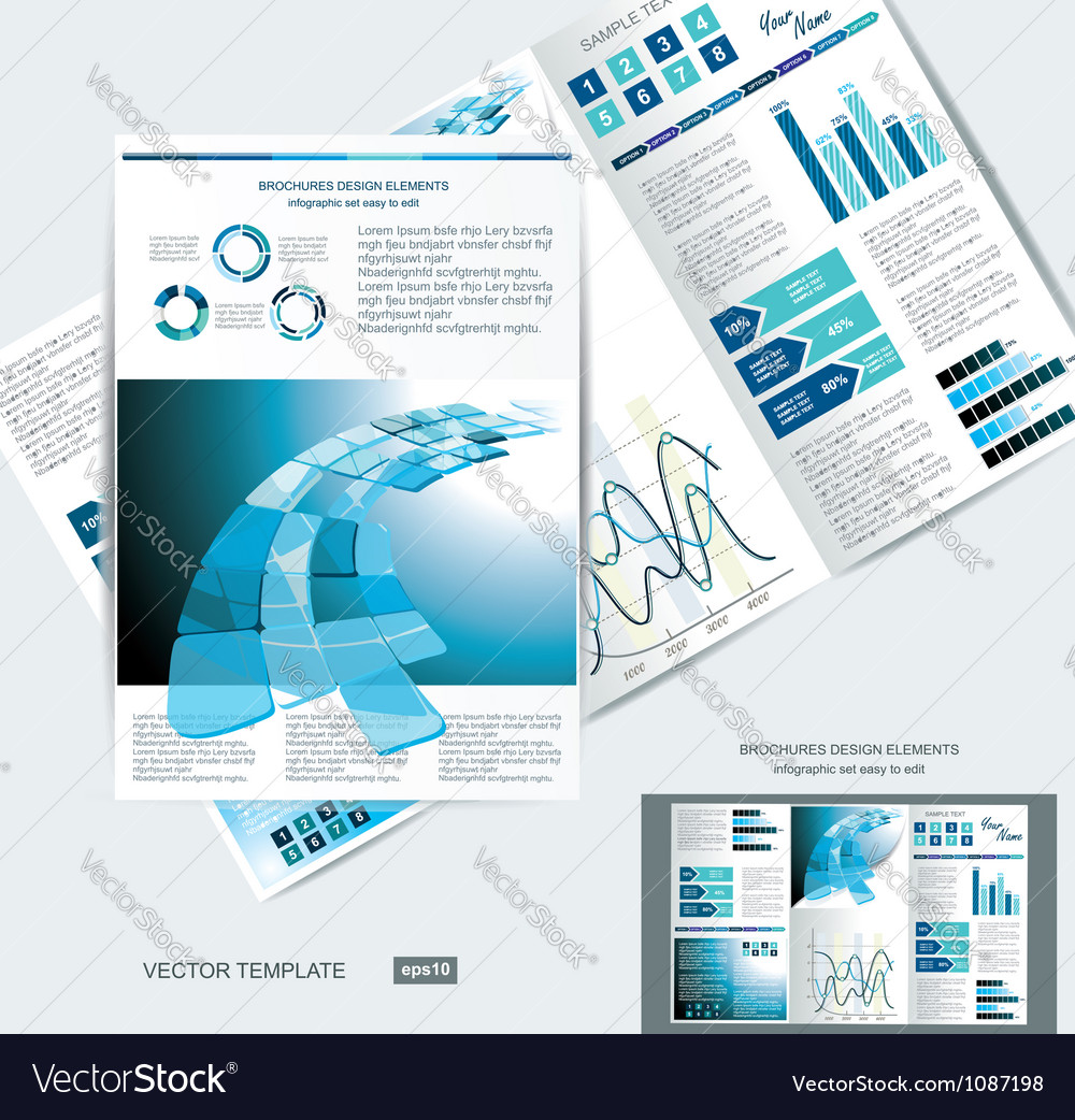 Elegant business brochure design vector | Price: 3 Credit (USD $3)