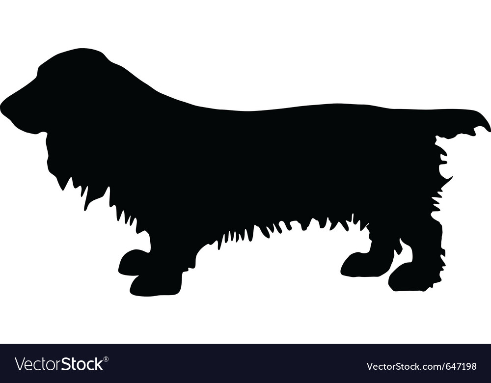 Field spaniel silhouette vector | Price: 1 Credit (USD $1)
