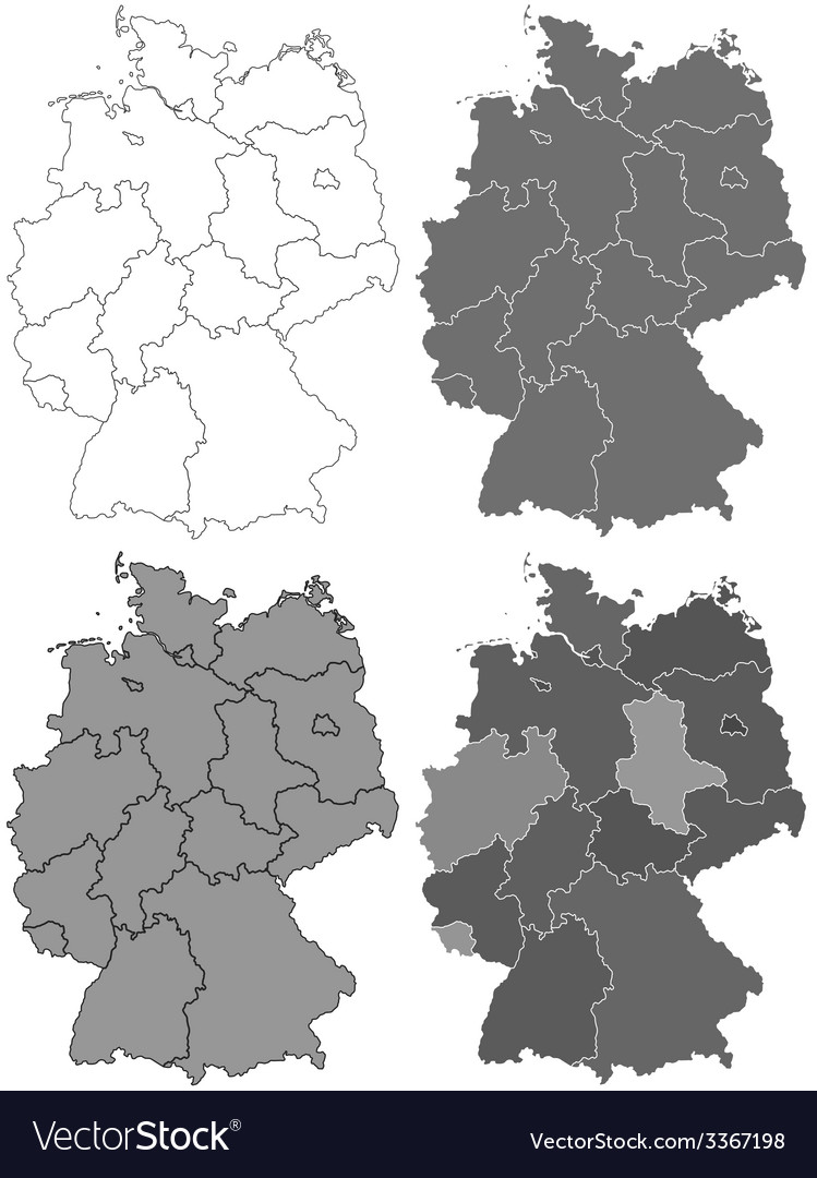 Germany map set vector | Price: 1 Credit (USD $1)