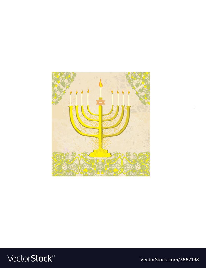 Hanukkah greeting card vector | Price: 1 Credit (USD $1)