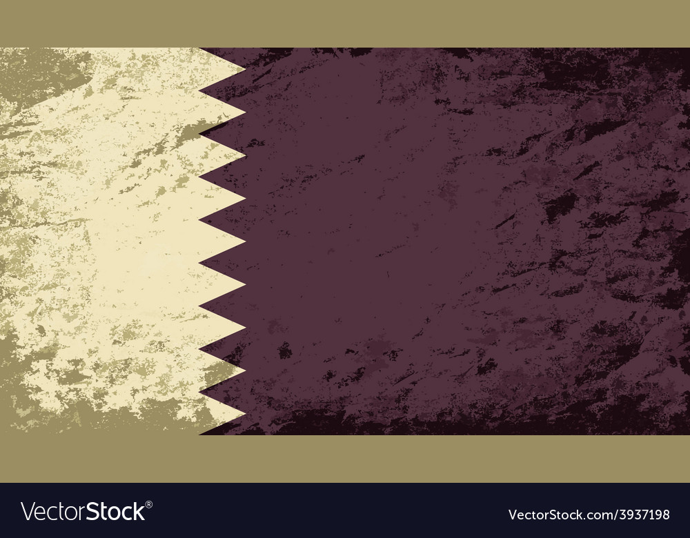 Qatar flag grunge background vector | Price: 1 Credit (USD $1)