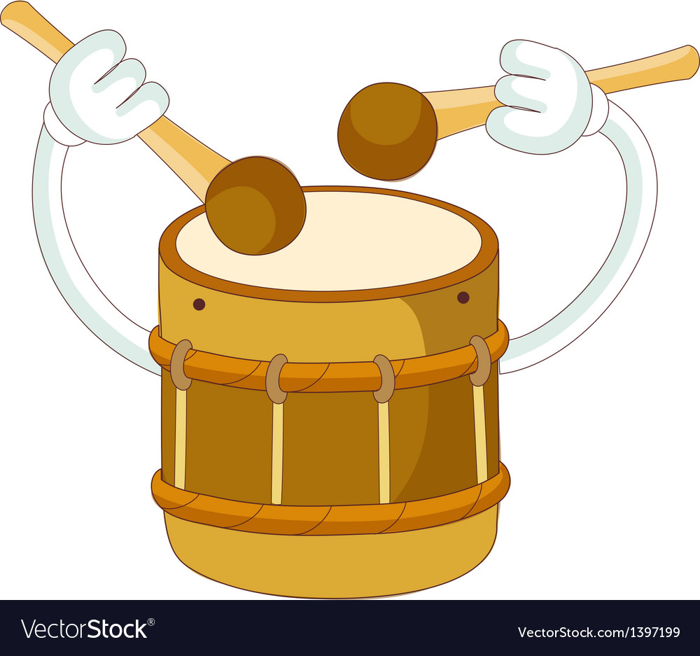 A playing drum vector | Price: 1 Credit (USD $1)