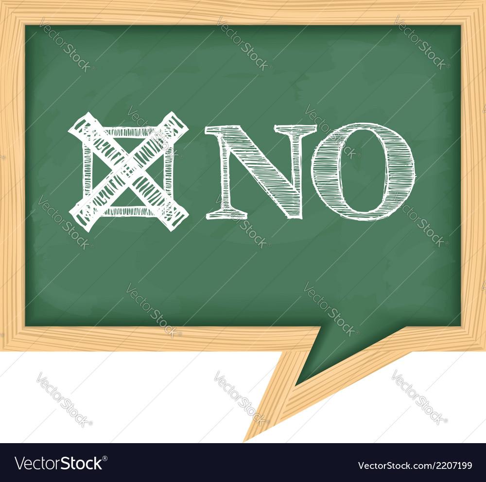 Blackboard with word no vector | Price: 1 Credit (USD $1)