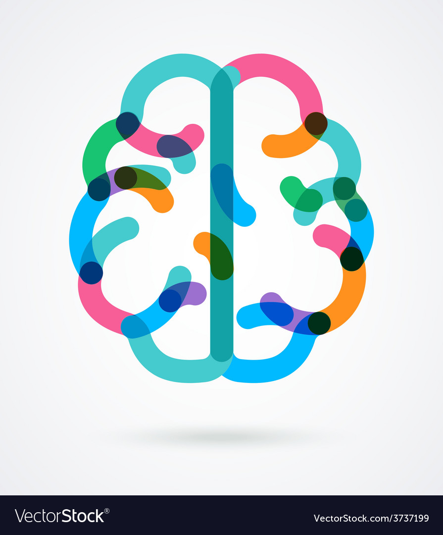 Brain - colorful vector | Price: 1 Credit (USD $1)