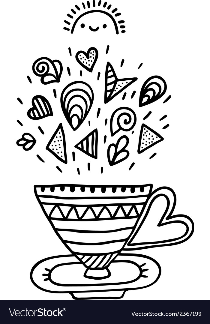 Doodle cup with ornaments vector | Price: 1 Credit (USD $1)