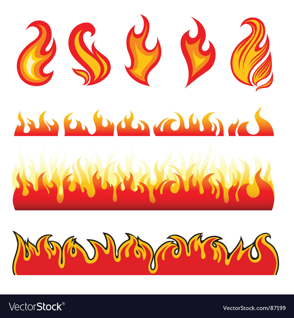Fire design elements vector | Price: 1 Credit (USD $1)