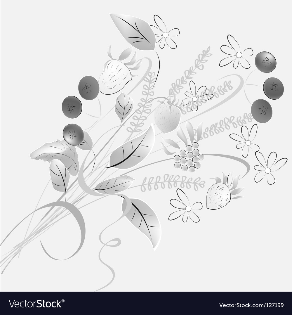 Forest flowers vector | Price: 1 Credit (USD $1)