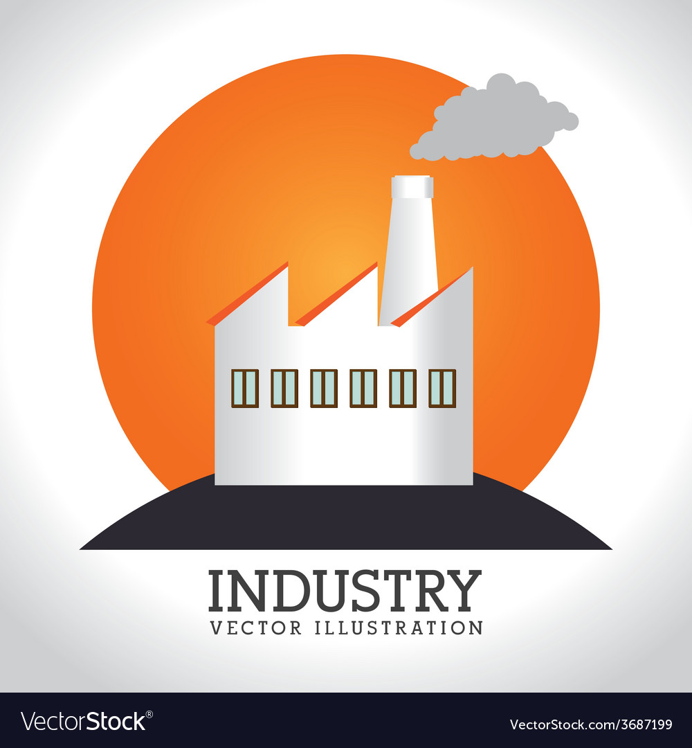 Industry design over white background vector | Price: 1 Credit (USD $1)
