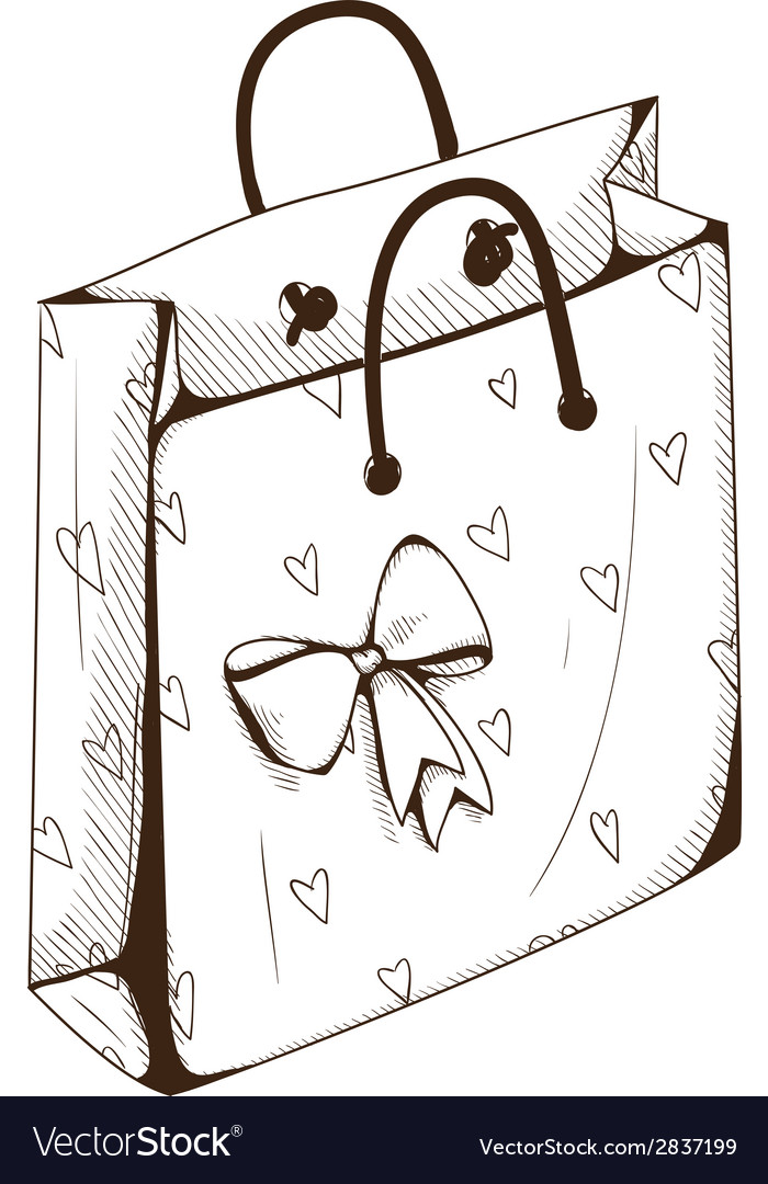 Package bag for present vector | Price: 1 Credit (USD $1)