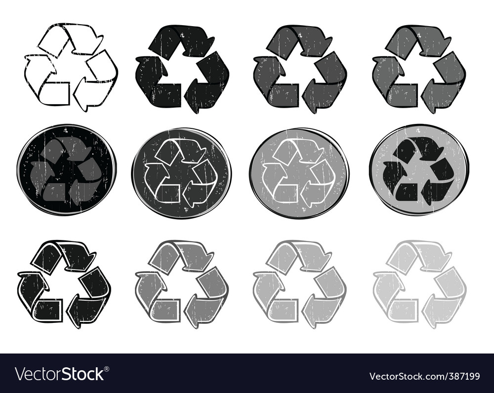 Recycle symbols vector | Price: 1 Credit (USD $1)