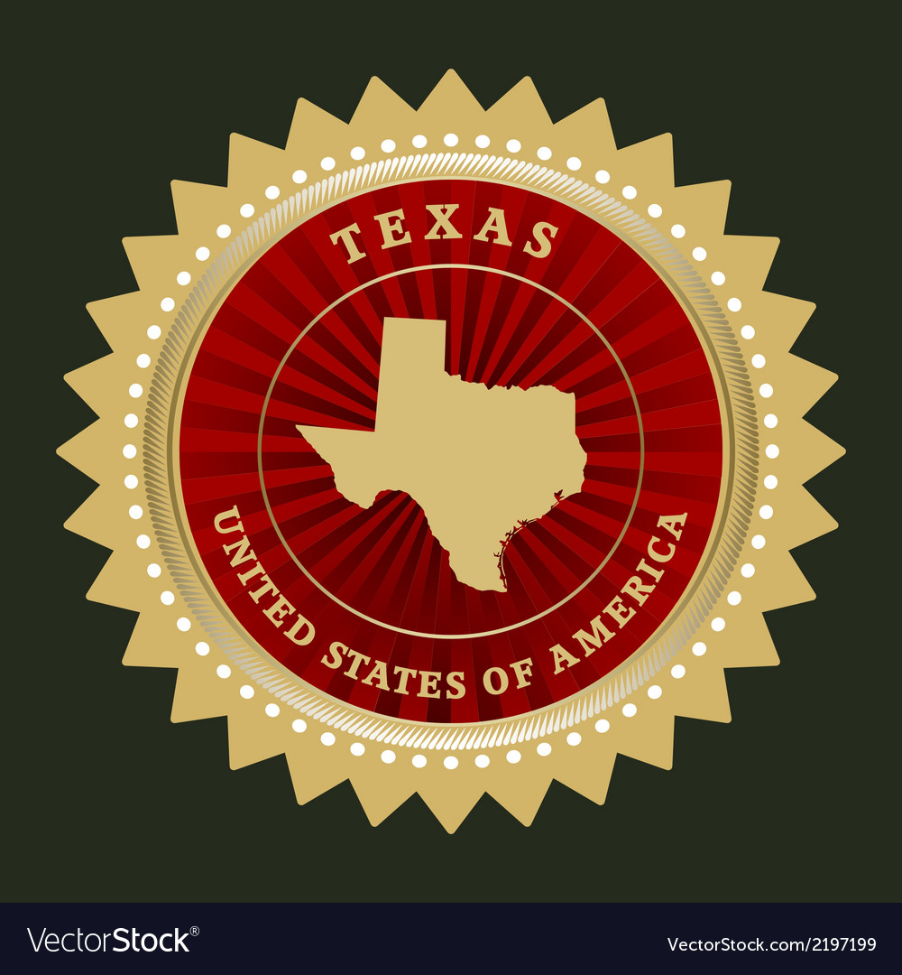 Star label texas vector | Price: 1 Credit (USD $1)