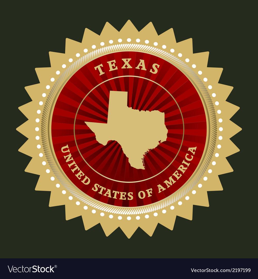 Star label texas vector | Price: 1 Credit (USD $1)