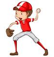 A male baseball player vector
