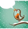 Retro christmas background with bird vector