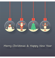 Christmas santa claus background vector